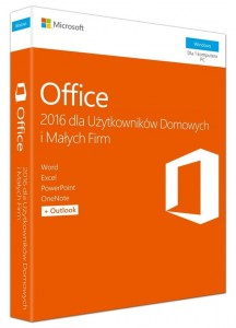 Microsoft Office 2016 Home & Business PL Win 32-bit/x64 P2